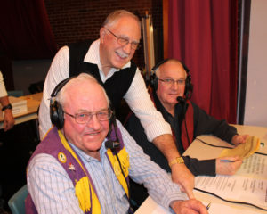 Kathy Bockus/file photo The 46th annual Santa's Helpers program will be held NOv. 27 on WQDY/WALZ radio. Members of the St. Stephen-Milltown Lions Club organize the program which sees school children perform songs to raise money for needy families at Christmas. From left, members of the organizing committee, are Garnet Allen, Ron Goodine and Bob Brown.